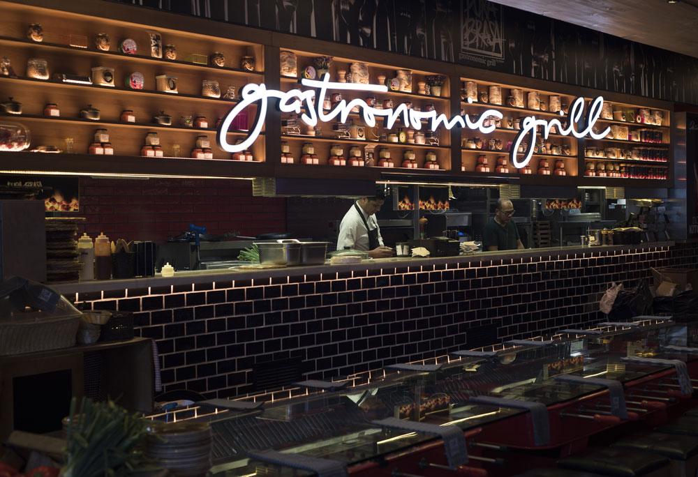 Restaurante Pura Brasa. Barcelona. Vié Iluminación.