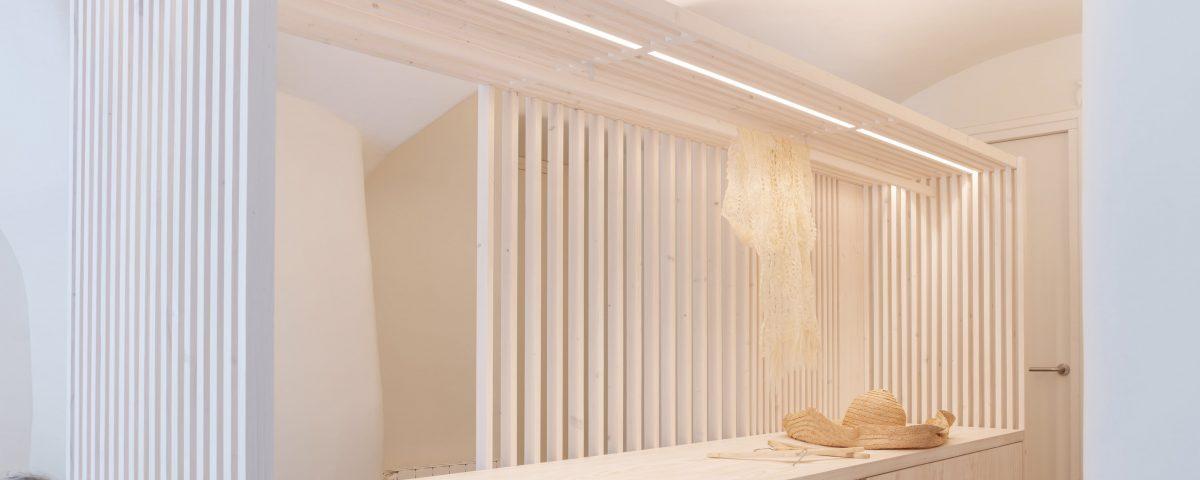 Iluminación lineal integrada para espacios mínimos